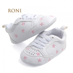 RONI Boy and girl  Red heart five-pointed star baby shoes, baby soft bottom shoes 06 11cm