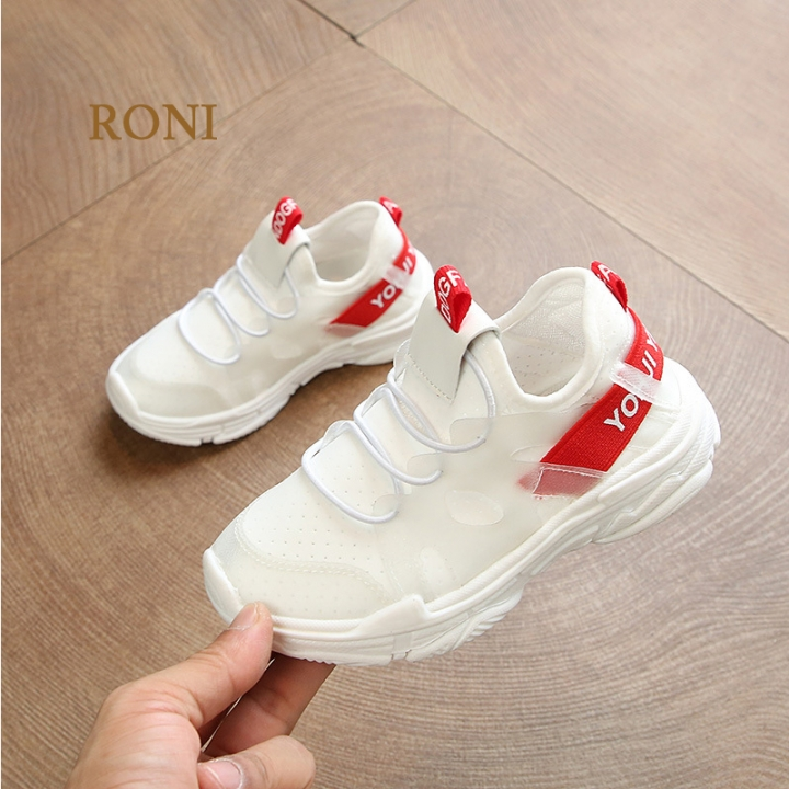 RONI 2018 Summer Baby boy new mesh fabric breathable sports shoes girl kids casual shoes white 21