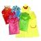RONI Cartoon animal raincoat, children's waterproof raincoat red strawberry All code Polyester