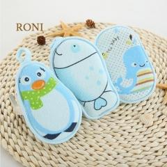 RONI Baby bath cotton, baby bath sponge, newborn bath artifact Blue dolphin all code