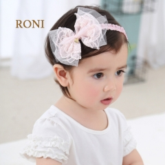 RONI Nexus butterfly knot baby elastic hair band 01