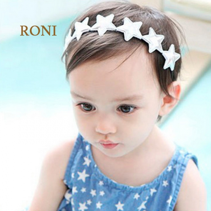 RONI A row of five-pointed baby elastic hair band 01