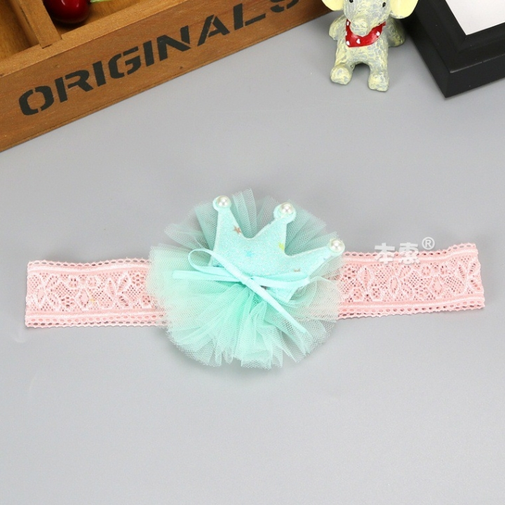 RONI Shining crown, five-pointed baby  girl elastic hairband. 02