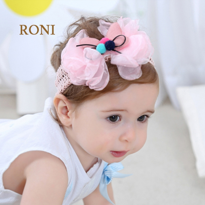 RONI Lace butterfly baby elastic hair band 01