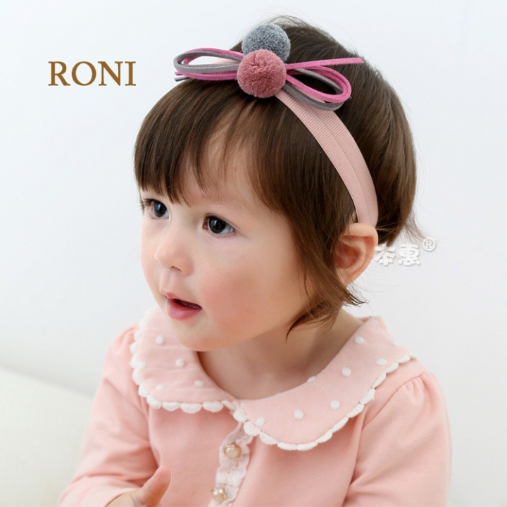 RONI Double Ball Butterfly Baby Stretch Hair Band 01