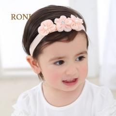 RONI Three consecutive flower baby elastic hair band 01