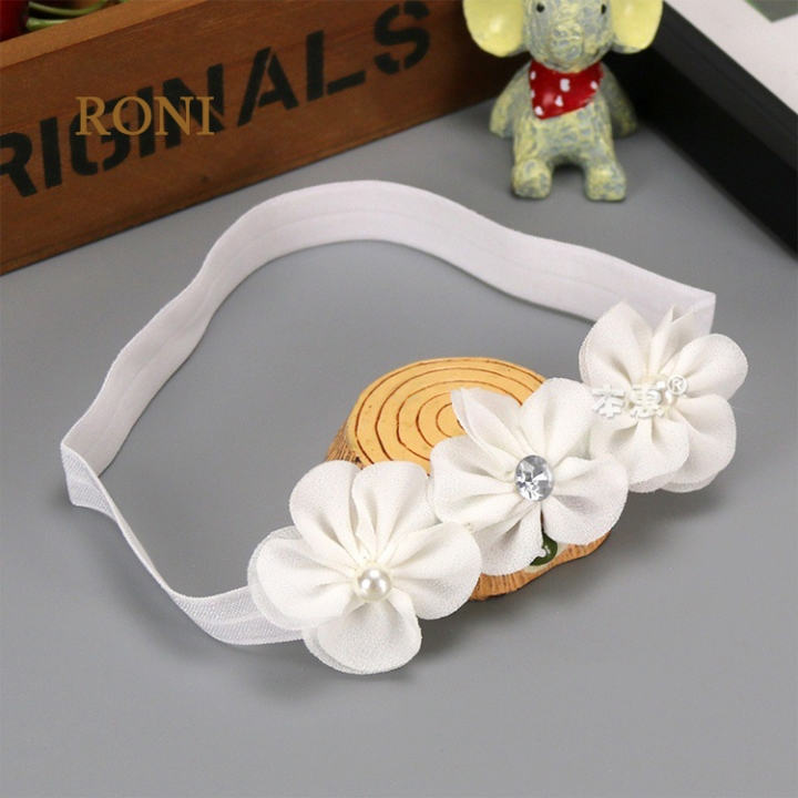 RONI Three consecutive flower baby elastic hair band 02