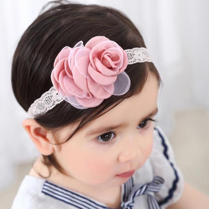 RONI Baby girl double rose elastic hair band 01