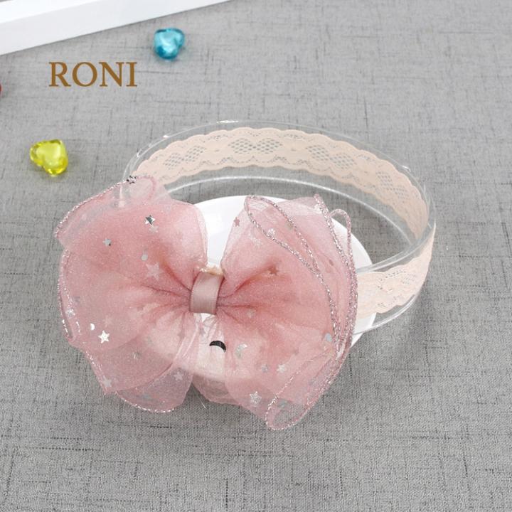 RONI Baby girl shining stars bowknot  hair bands. 01