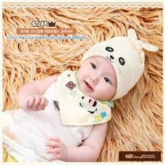 RONI  Baby Animal Sleep Hat with Triangular Scarf Set 02 all code