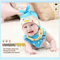 RONI  Baby Animal Sleep Hat with Triangular Scarf Set 01 all code