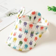 RONI Korean Baby 100% cotton  printing animal ear  sunshade  flat cap 01 all code