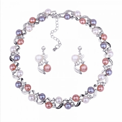 RONI Imitation pearl necklace earring suit 01 all code