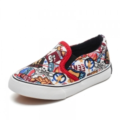 RONI 2018 brand new children's print canvas low shoes 01 24
