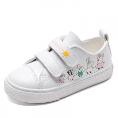 RONI Baby Girl Microfiber leather Princess Shoes Kids Korean Cartoon Piglet Low Board Shoes 01 31