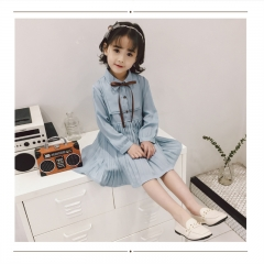 RONI Korean version of the princess dress girl autumn long-sleeved chiffon cute dress the picture color 90/7