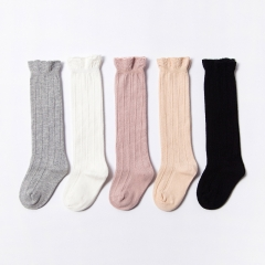 RONI 5 Pairs  Autumn baby  cotton socks girl  fashion lace socks 01 S