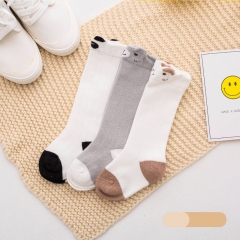 RONI 3 Pairs of  Spring and Autumn New Baby Cartoon Cotton High stocking 01 s