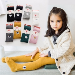 RONI 2018 Spring and Autumn new, fashion combed cotton Pants children embroidery pantyhose 01 s