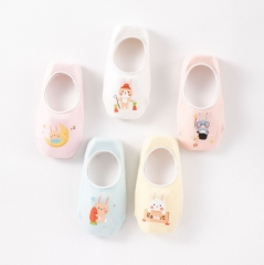 RONI 5 Pairs Baby girl  silicone Anti-Slip  socks boy cartoon thin cotton socks 01 s