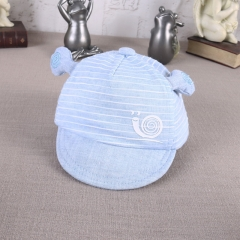 RONI New Children's Snail Leisure Hats Male and Female Baby 100% Cotton Baseball Hats 01