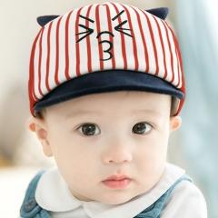 RONI Spring new kids cap baseball cap Baby striped cotton hat 01