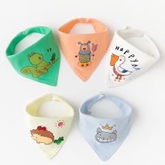 RONI 5pcs baby 100% cotton triangle saliva towel baby bib newborn children turban 02 all code
