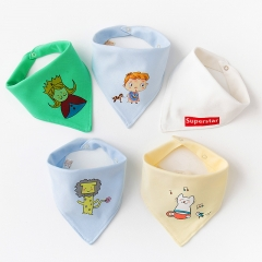 RONI 5pcs baby 100% cotton triangle saliva towel baby bib newborn children turban 03 all code