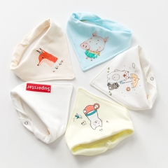RONI 5pcs baby 100% cotton triangle saliva towel baby bib newborn children turban 09 all code