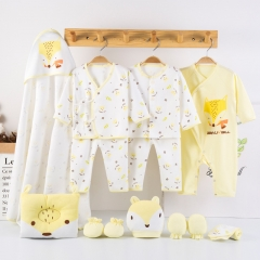 RONI Spring baby girl  13-piece Set  100% cotton clothes suit  boy clothes with accessories set 03 59cm