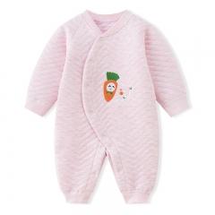 RONI 2018 New Baby girl 100 % Cotton Clothes Newborn thick warm jumpsuit boy crawl suit 01 66cm