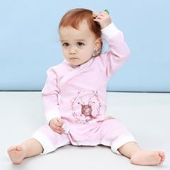 RONI 2018 New Baby girl 100 % Cotton Clothes Newborn jumpsuit boy crawl suit 01 59cm