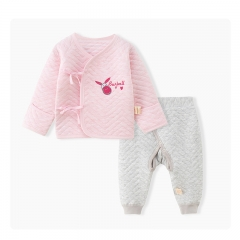 RONI Baby  girl 100% cotton  clothes set boy  thick warm  two- piece set 01 52cm