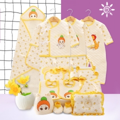 RONI Winter  0-12 Months old baby girl 21-piece set  boy 100% cotton thick warm  clothes suit 01 0-12M