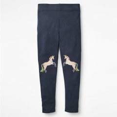 RONI Autumn New Girl 100% Cartoon animal embroidery  Pants 01 2t
