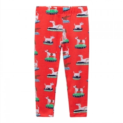 RONI 2018 Autumn new girl 100% cotton puppy printed pants 01 2t