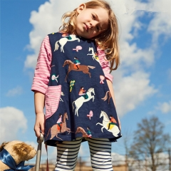 RONI  Autumn new girl 100%  cotton printed long-sleeved dress 01 18-24m