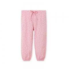 RONI 2018 Summer New Girl 100% Cotton Thin Sweet Printed Pants 01 100cm