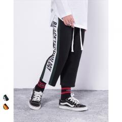RONI 2018 Summer New Boys Side Alphabet Print Pants Kids Nine Cents trousers 01 110cm