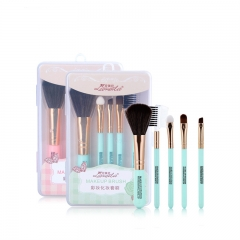 RONI 5pcs Makeup Brush Set Portable Makeup Brush Makeup Tool Random