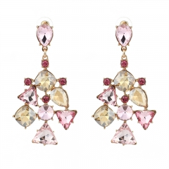 RONI New diamond alloy multi-layer exaggerated earrings 01 all code