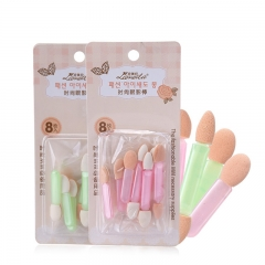 RONI 8pcs Double Sponge Eye Shadow Stick Eye Makeup Tool random