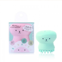 RONI Pink jellyfish wash brush multi-functional exfoliation massage silicone cleanser random