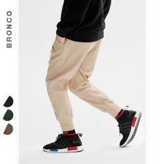 RONI 2018 Autumn New  boy fashion overalls kids 100% cotton casual  pants 01 110cm