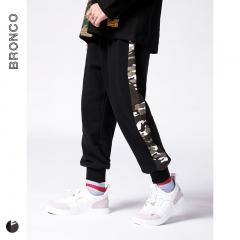 RONI 2018 Autumn new  boy fashion sweatpants kids side camouflage print trousers 01 110cm