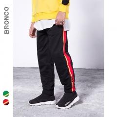 RONI 2018 Autumn new  boy fashion sweatpants kids  striped embroidery trousers 01 110cm