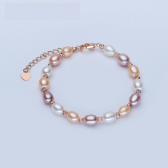 RONI 2018 New Mixed Color Pearl Bracelet Natural Freshwater Pearl Bracelet 01 all code