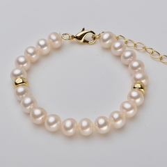 RONI 7-7 .5 mm Natural freshwater Pearl bracelet 01 all code