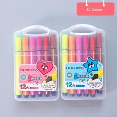 RONI Washable watercolor pen set children  painting pen student color pen 12 colors all  code
