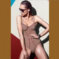RONI 2018 Lady new fashion striped swimsuit 01 S